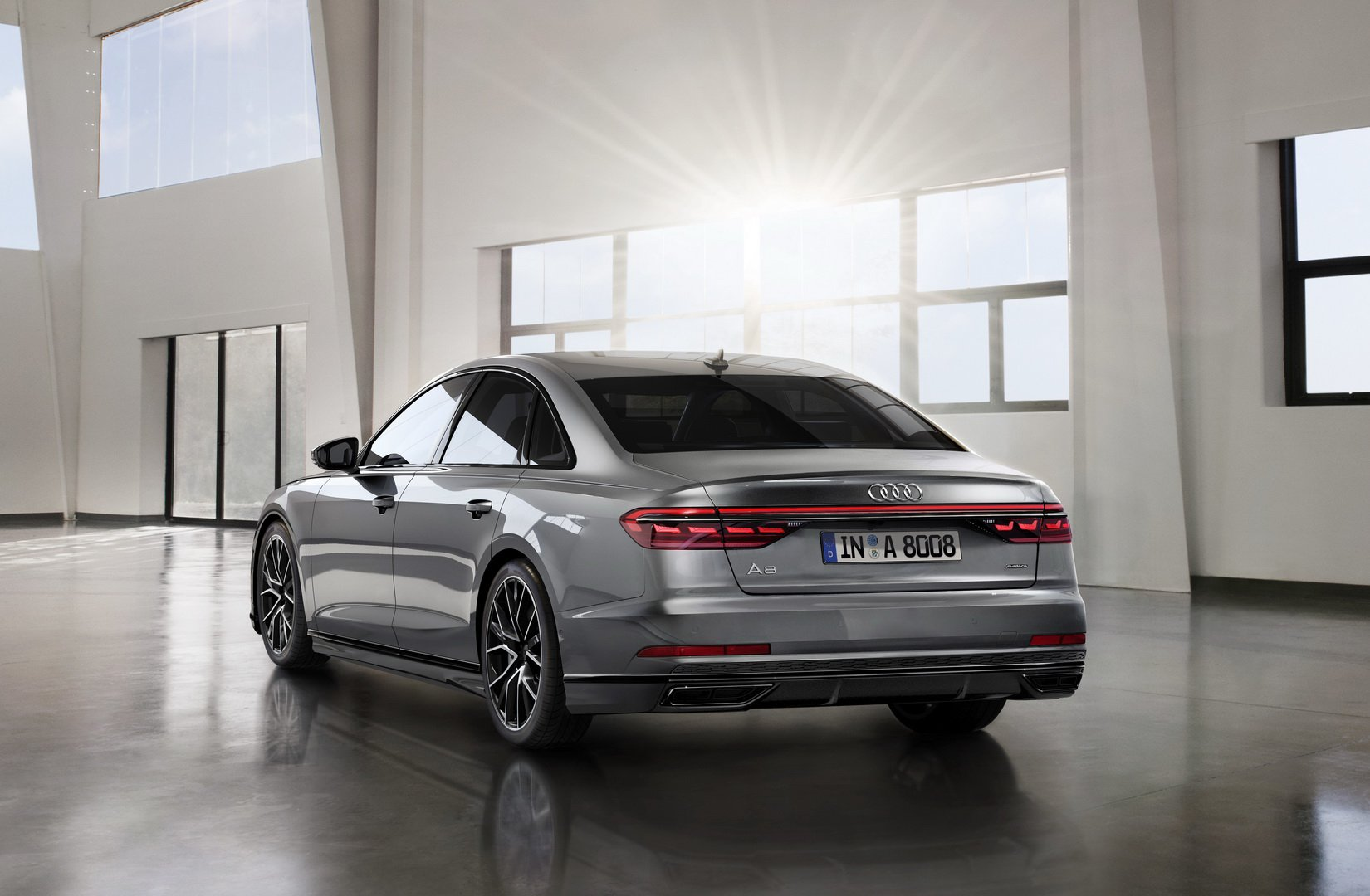 formacar audi working on a deluxe a8