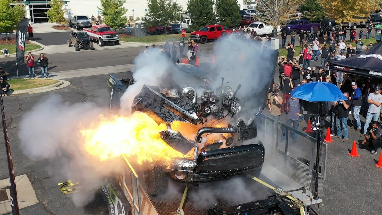 Formacar Watch A 3 000 Hp Engine Blow A Dodge Ram To Bits